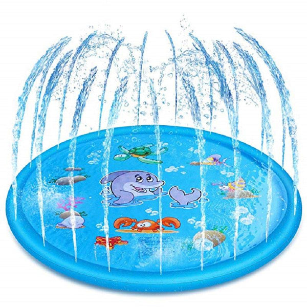 Water Play Sprinkler Mat For Kids - Water Splash Pad