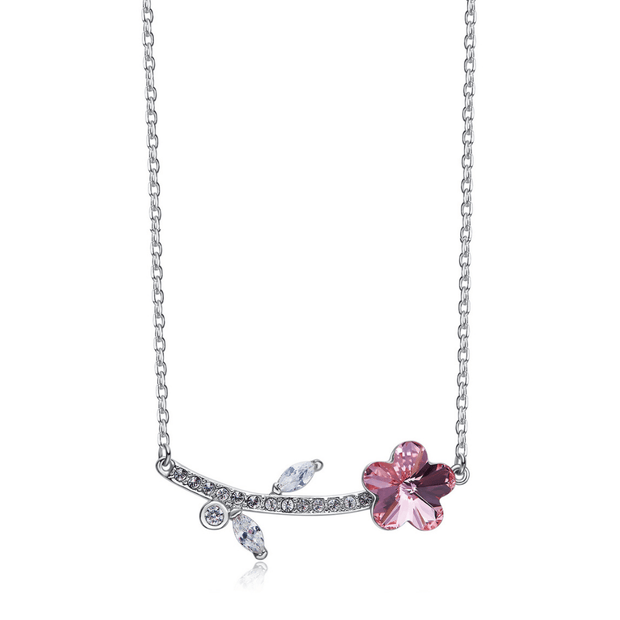 COLLAR BLOOM PINK CRISTALES