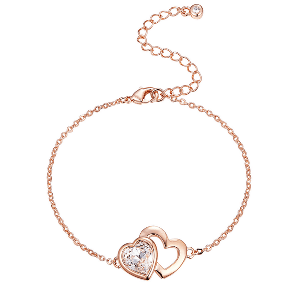 PULSERA LOVERS ROSE CRISTALES