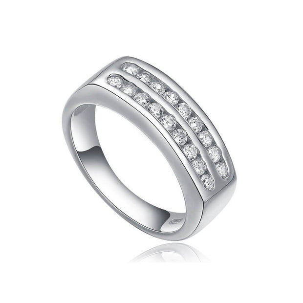 ANILLO AMONET PLATA ITALIANA