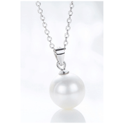 COLLAR SIMPLE PEARL PLATA ITALIANA