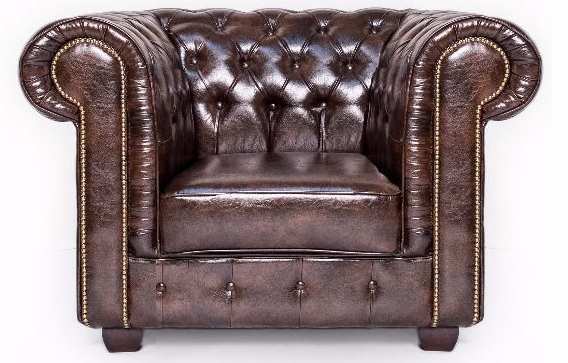 Antique Brown Chesterfield Leather Club Chair
