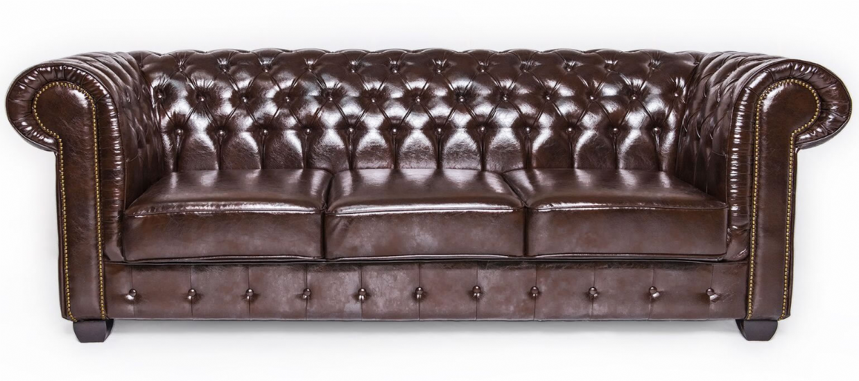 Antique Brown Chesterfield Leather Suite