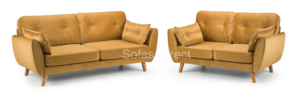 Mustard 2 & 3 seat sofa collection