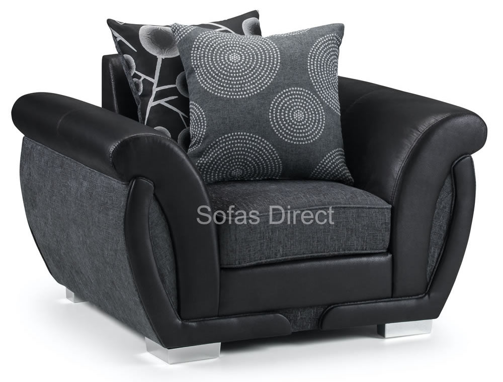 Black & grey arm chair