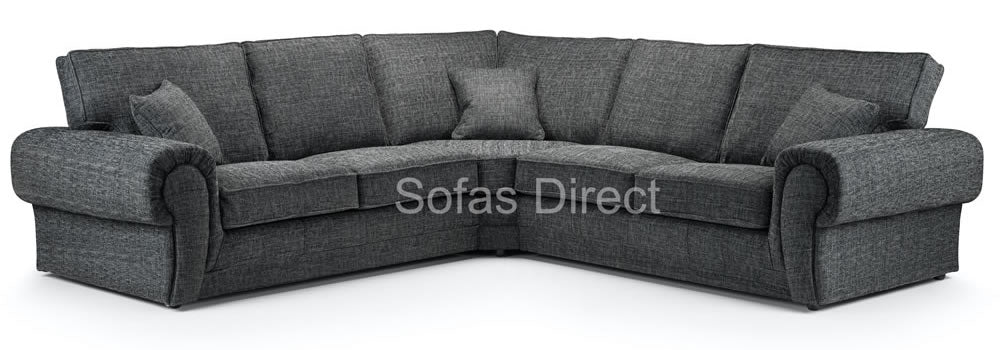 Large grey fabric sofa