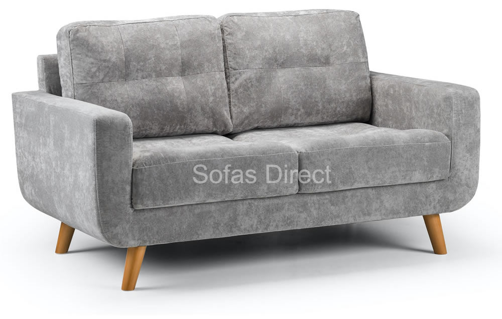 Small grey 2 seat sofa