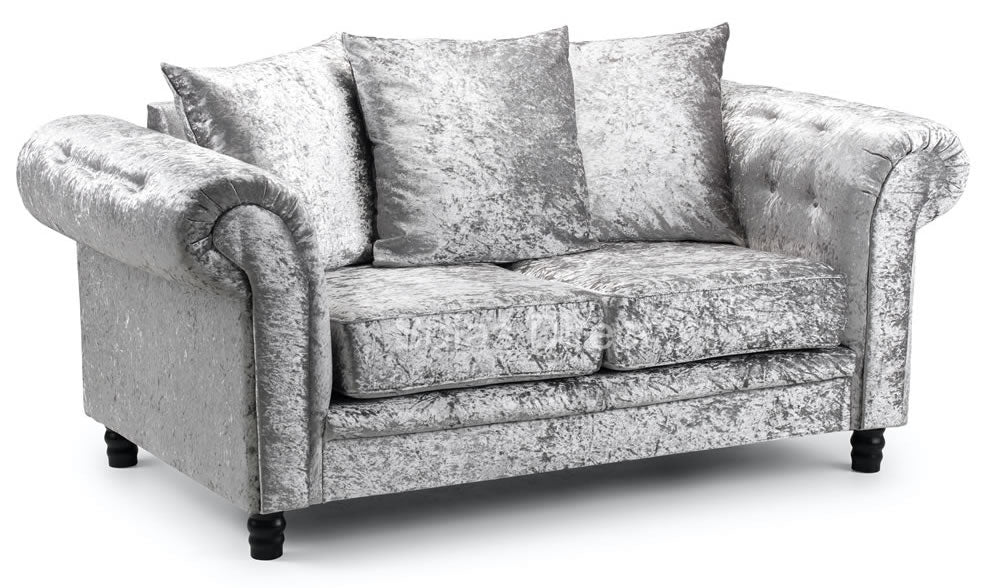 2 seat crushed velvet sofa