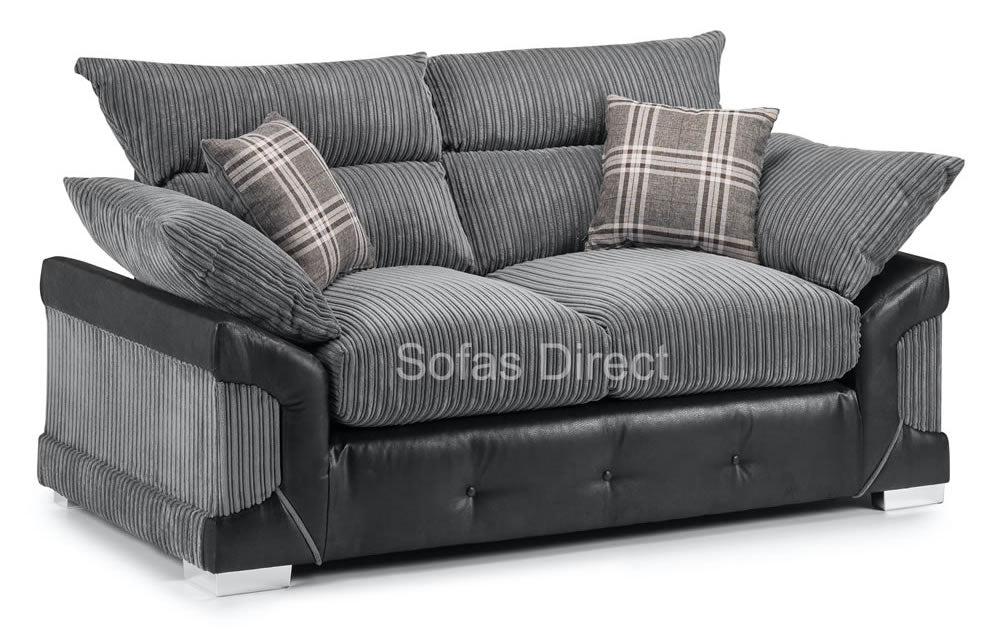 Fabric & Faux Leather 2 Seat Sofa - SD138