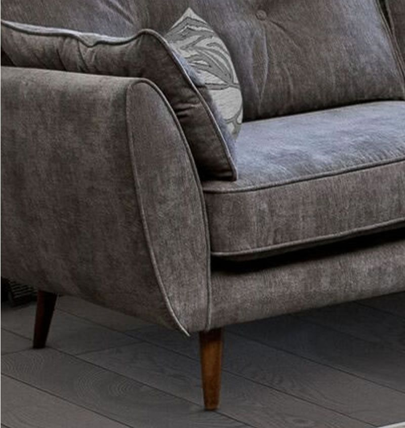 3 Seat Grey Fabric Sofa - SD081