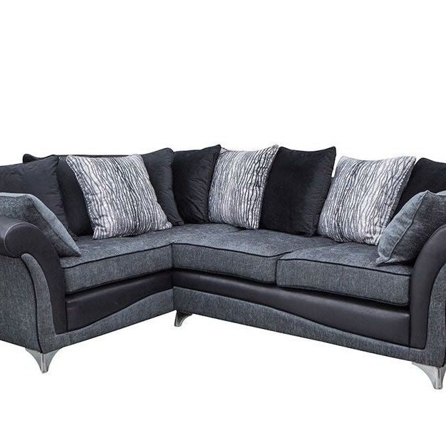 Black & Grey Corner Sofa - SD117