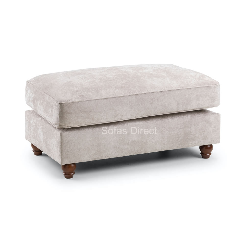 Grey Fabric Foot Stool - SD049