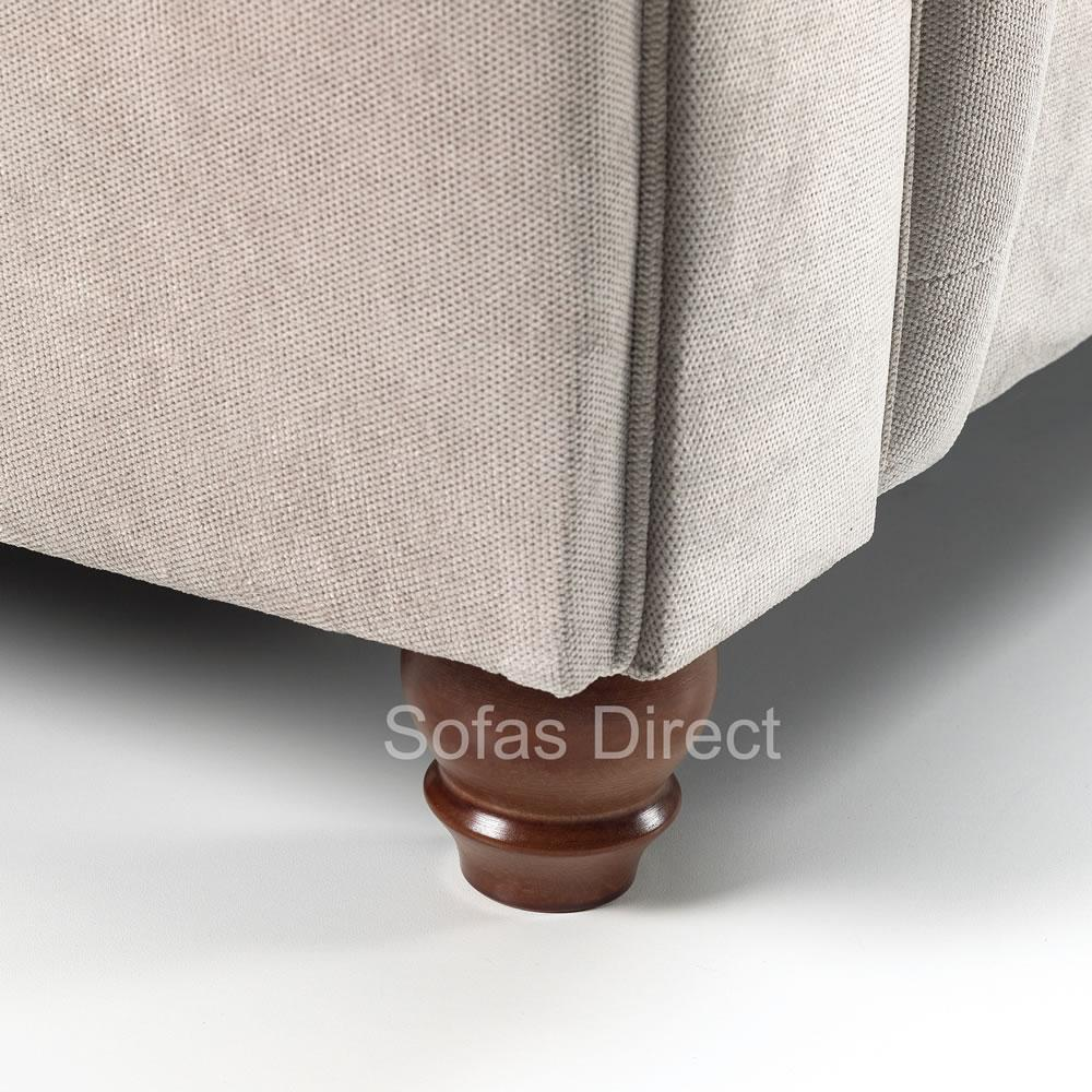 Grey Chesterfield Corner Sofa - SD049