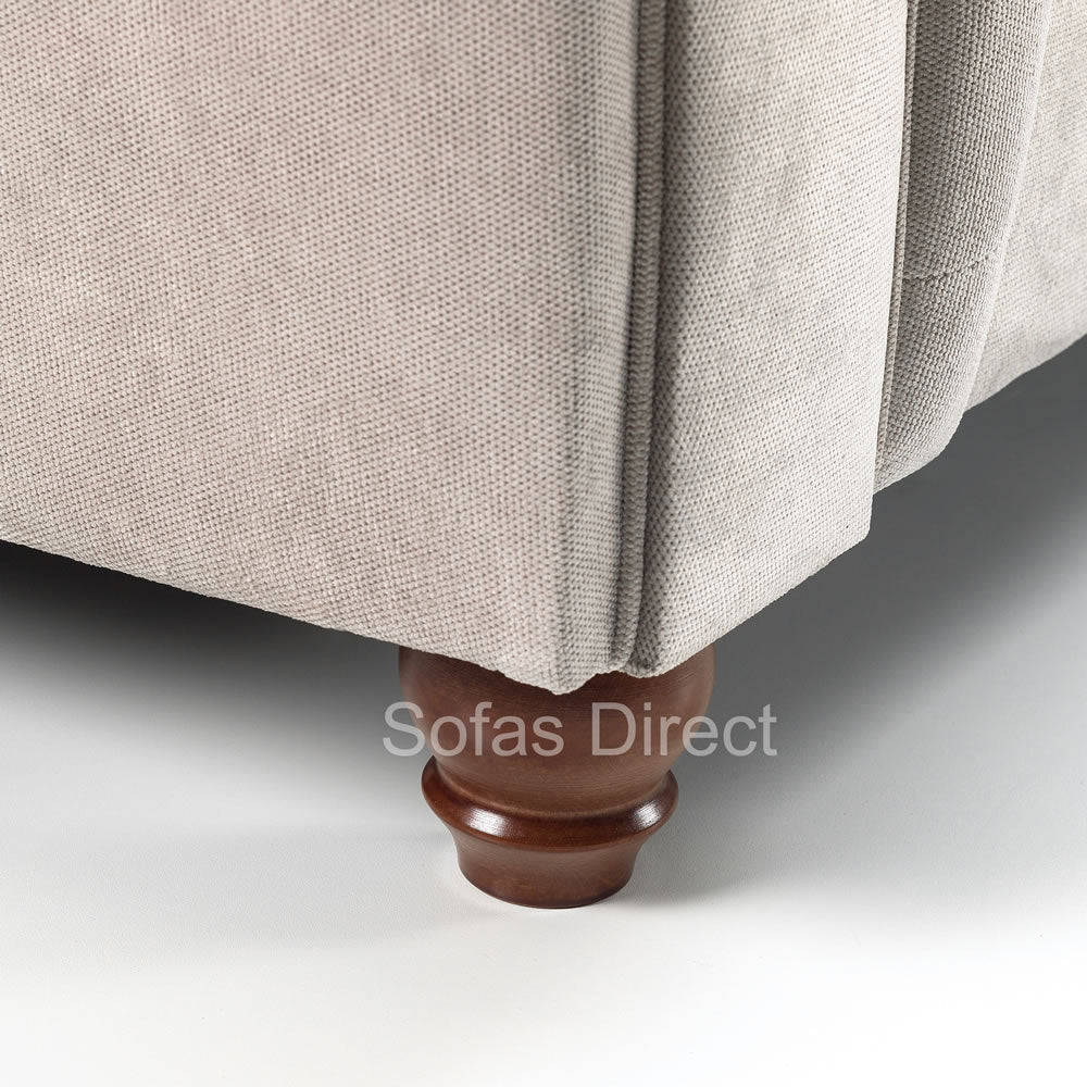 2 x Two Seat Fabric Chesterfield Sofas - SD049
