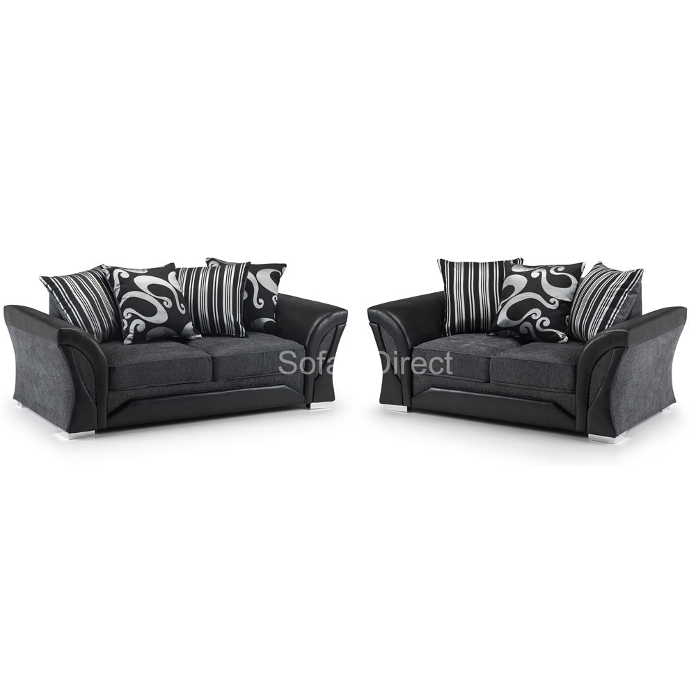 Pillow Back 2 Piece Fabric Sofa Set - SD069