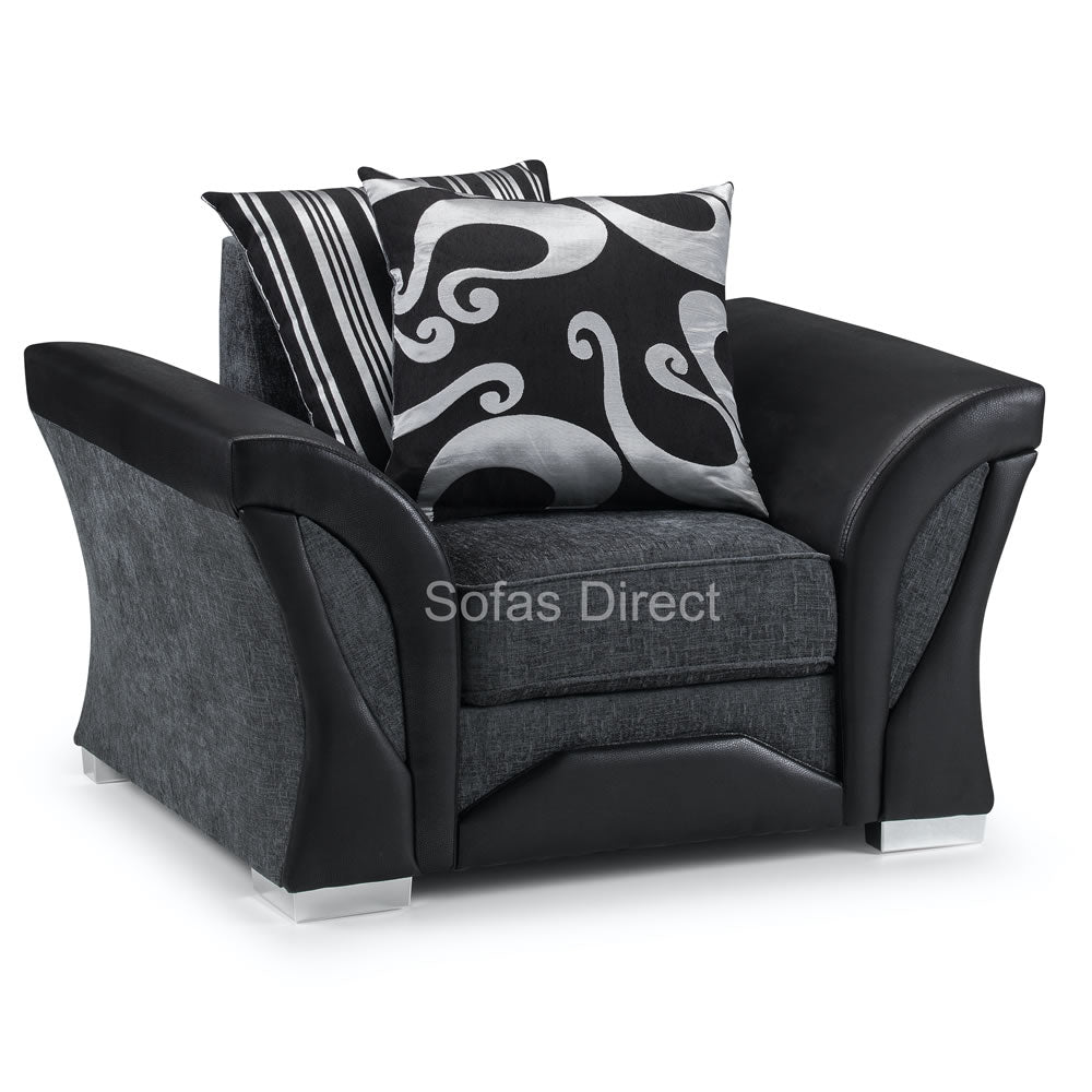 Pillow Back Fabric Arm Chair - SD069