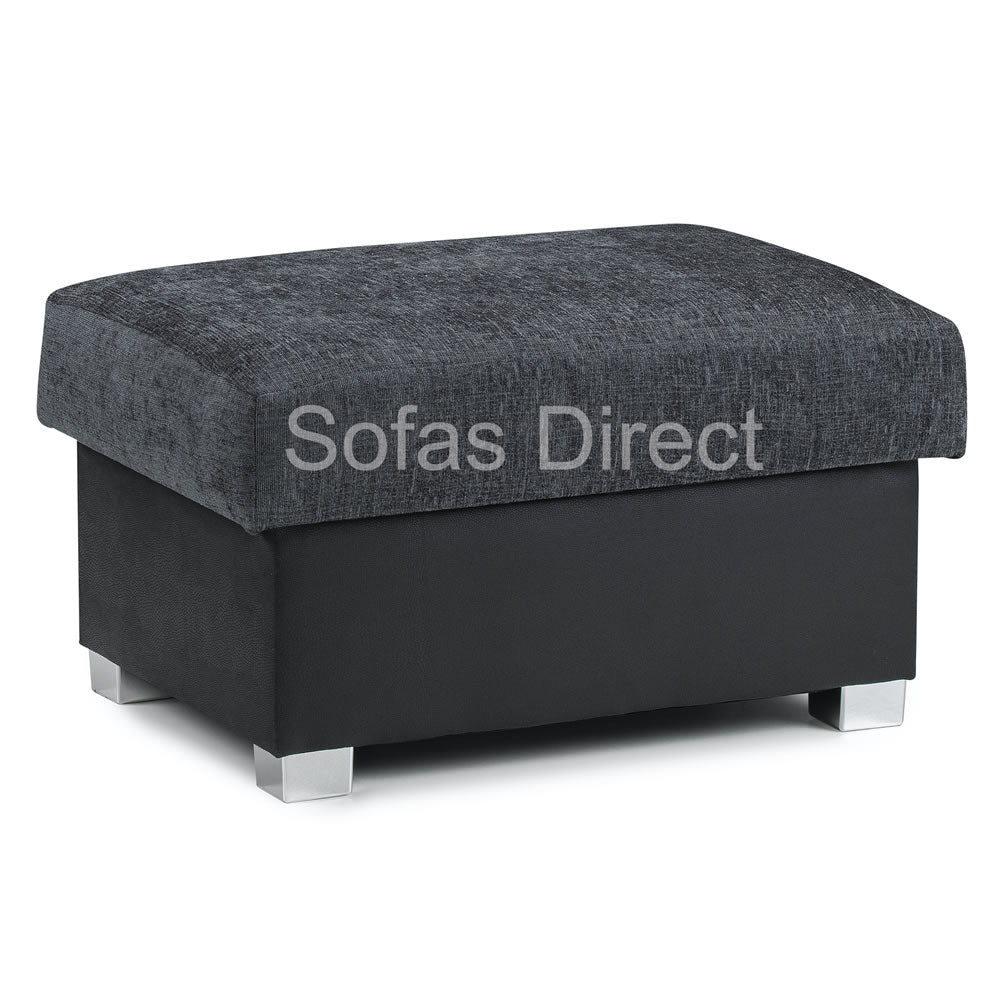 Grey Fabric Foot Stool - SD069