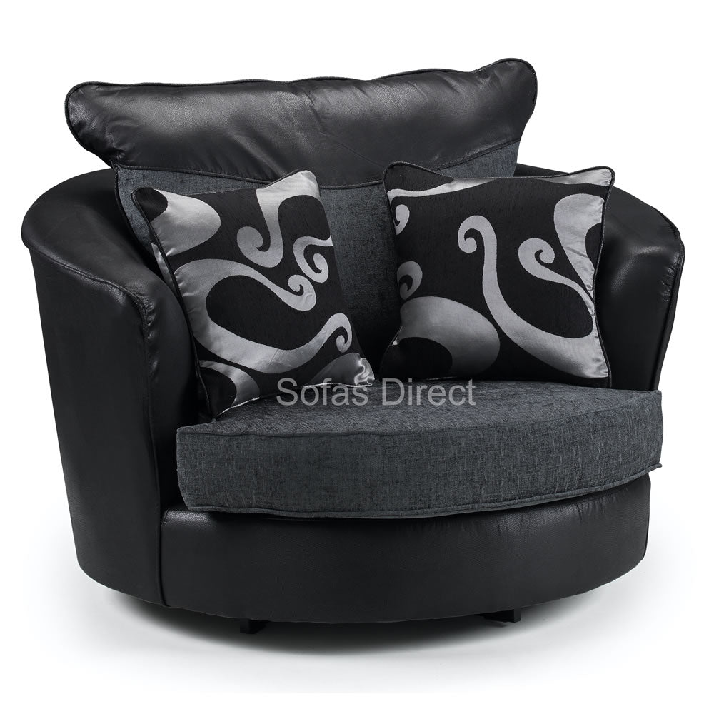 Pillow Back Fabric Swivel Chair - SD069