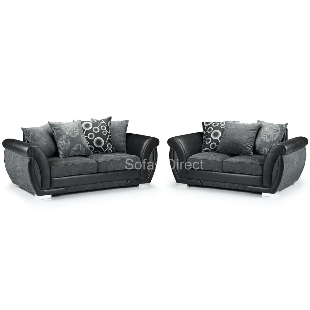 Grey Fabric Sofa Set - SD098