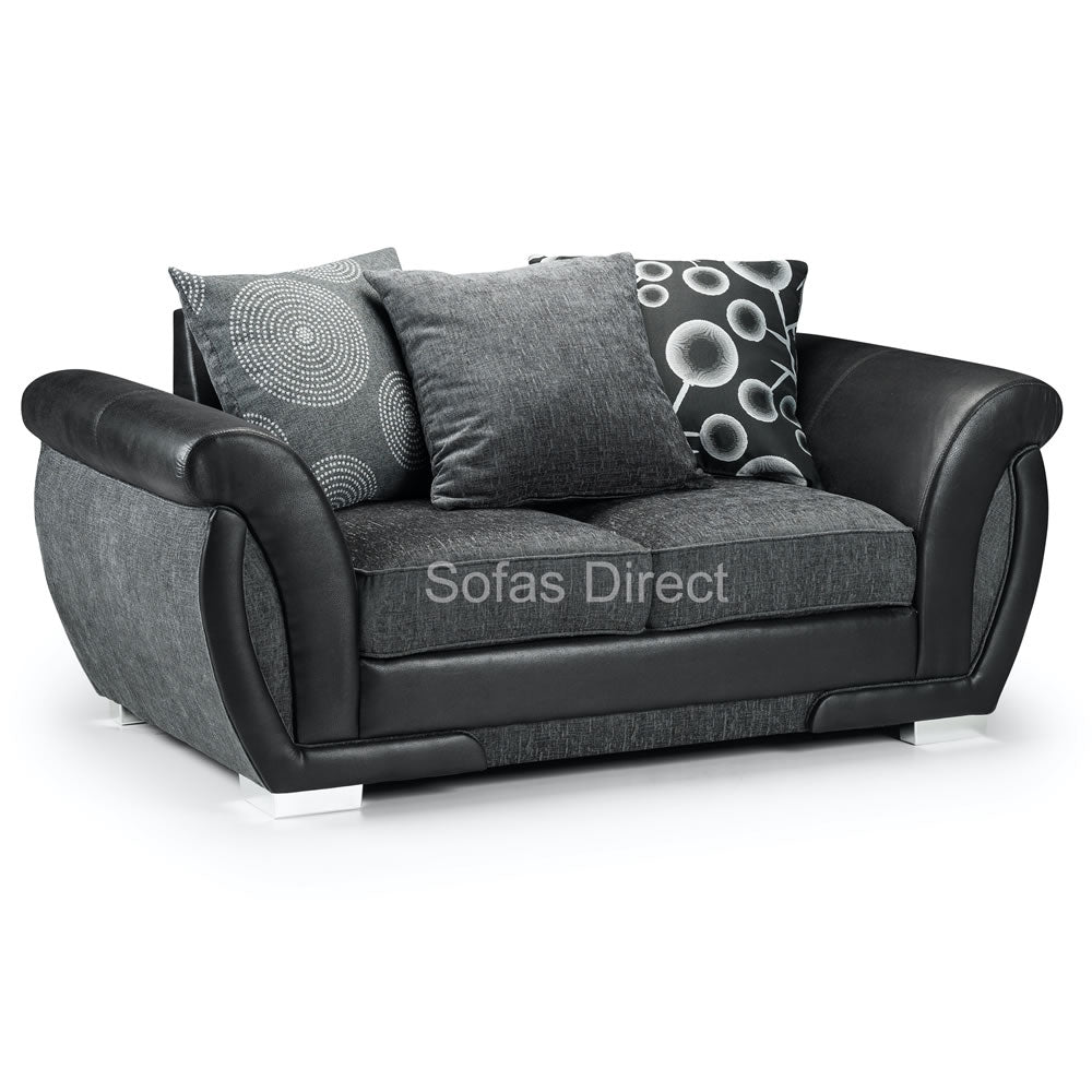 Grey Fabric Two Seat Sofa - SD098
