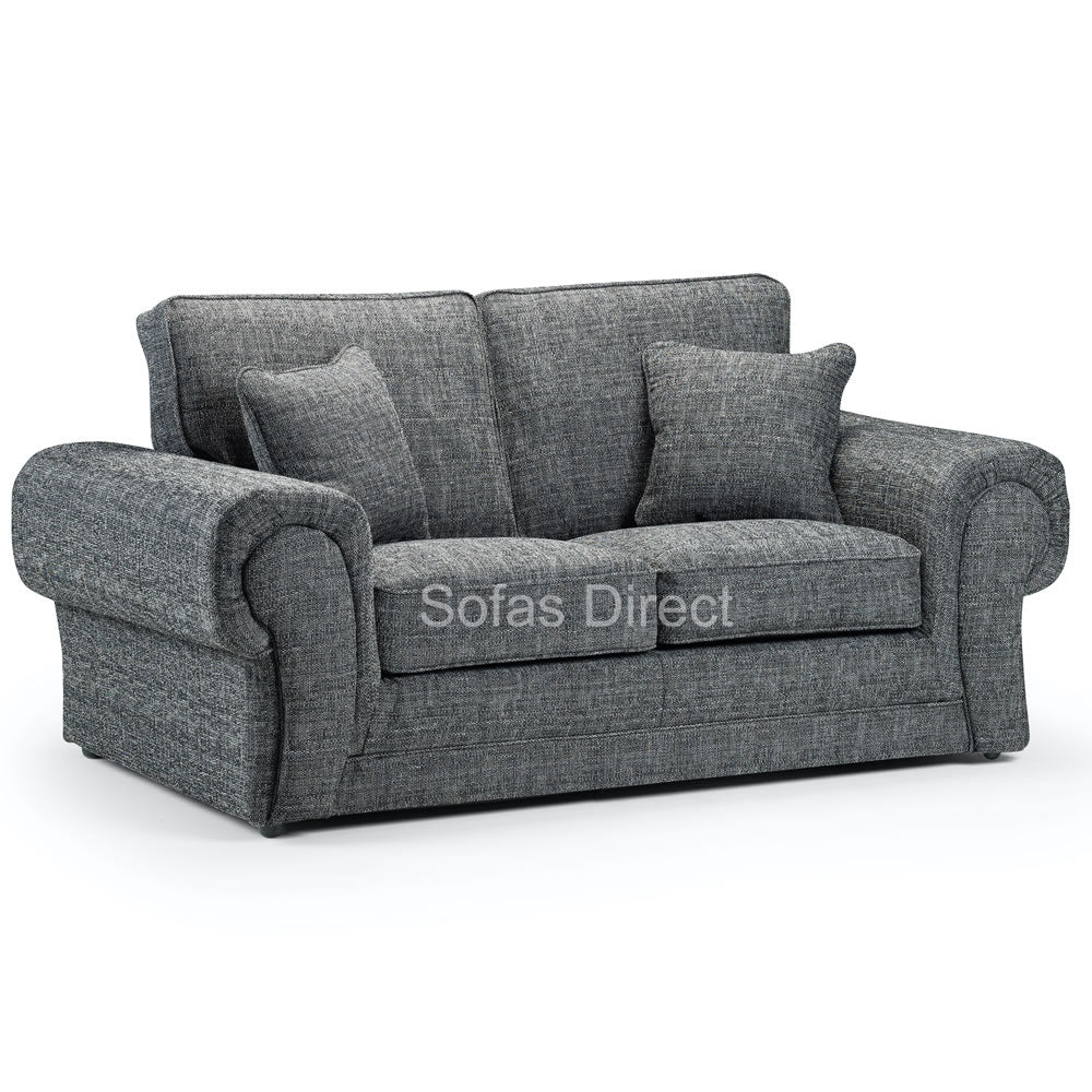 Two Seat Grey Fabric Sofa - SD105