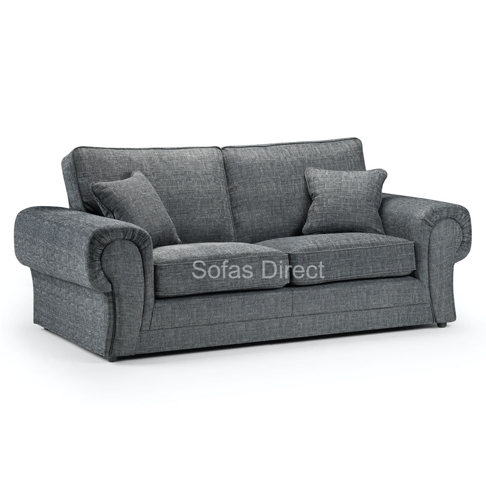 Three Seat Grey Fabric Sofa - SD105