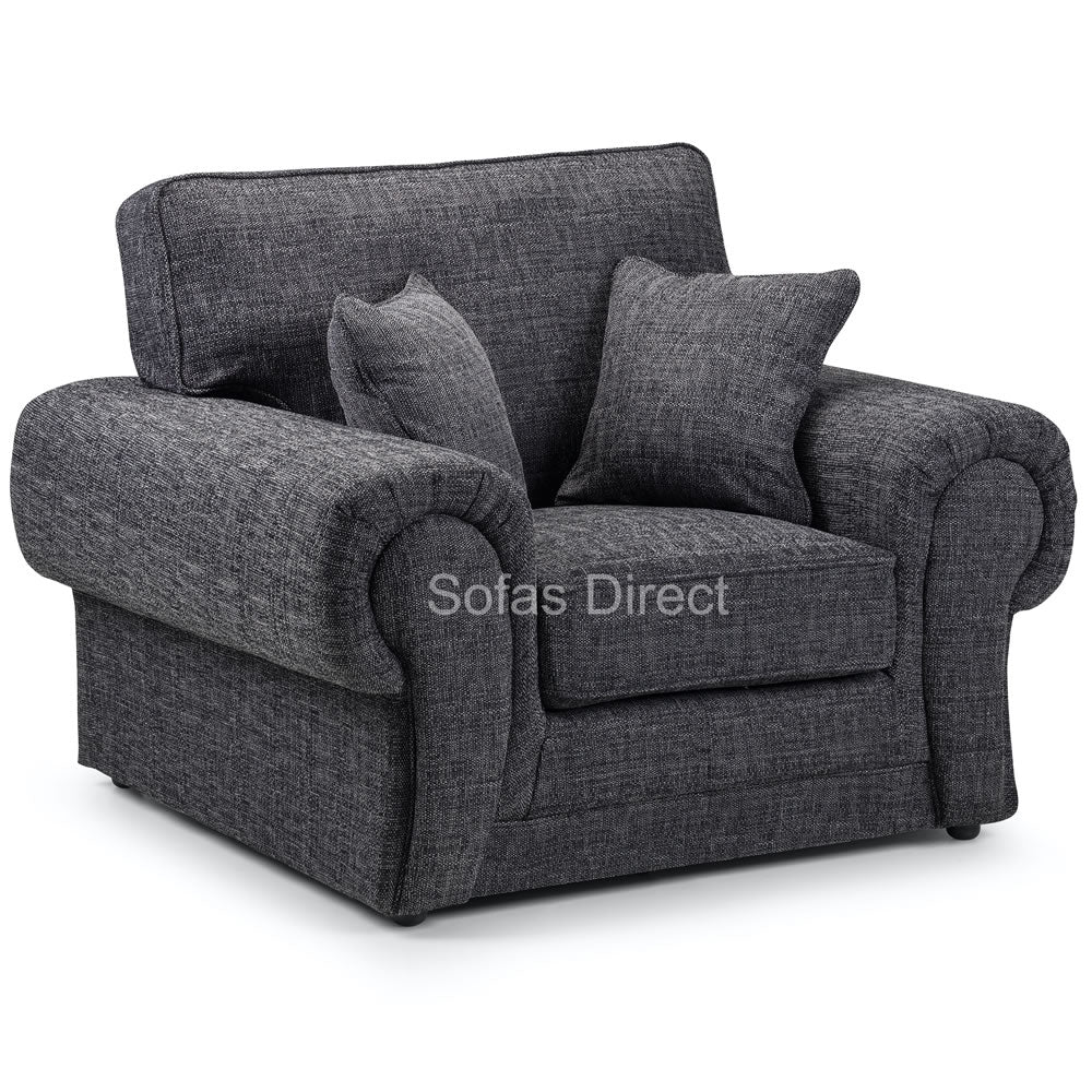 Grey Fabric Arm Chair - SD105