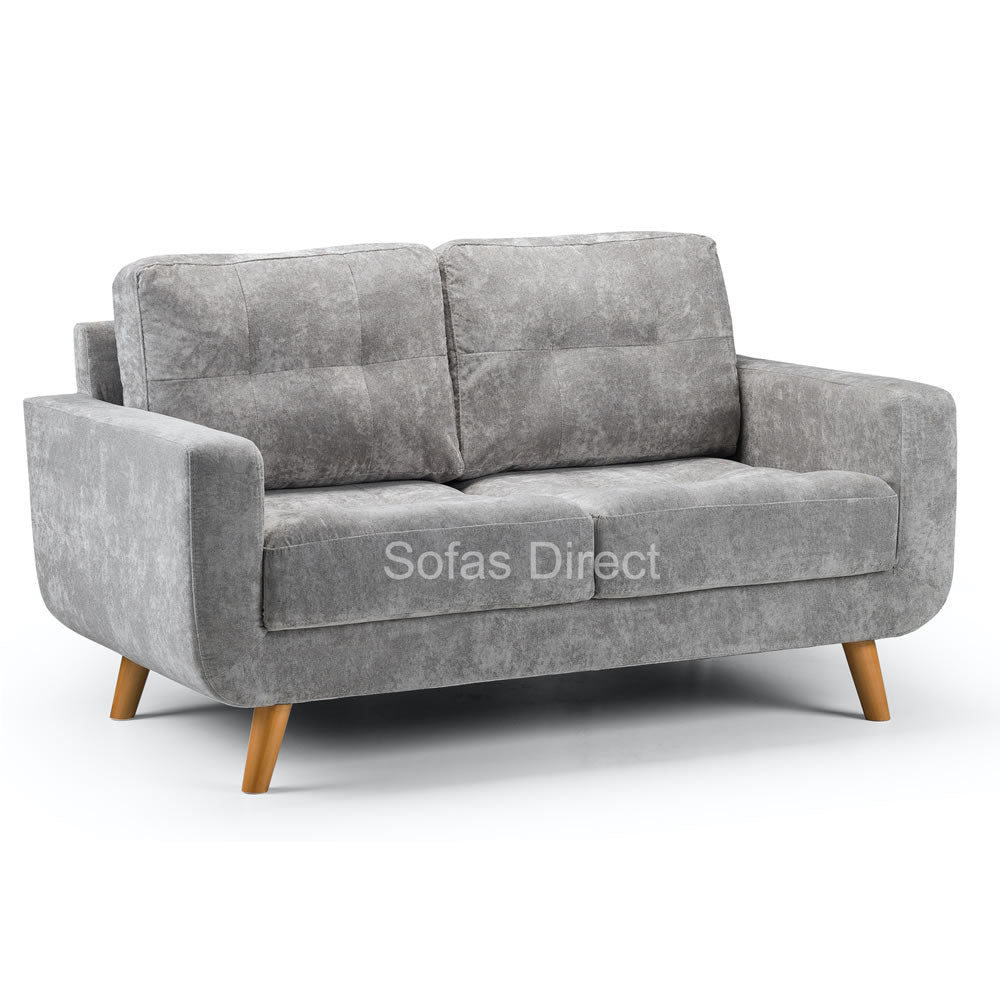 Three Piece Grey Fabric Sofa Set - SD114