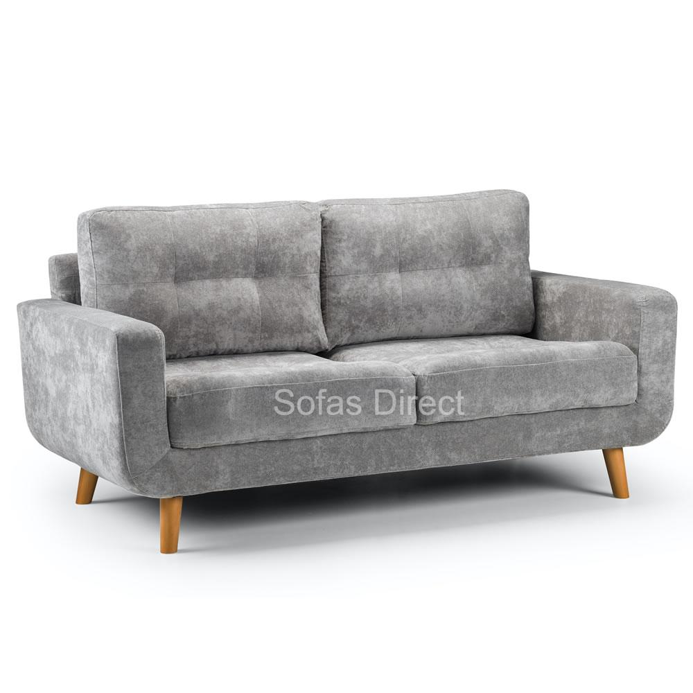 Grey Three Seat Fabric Sofa - SD114
