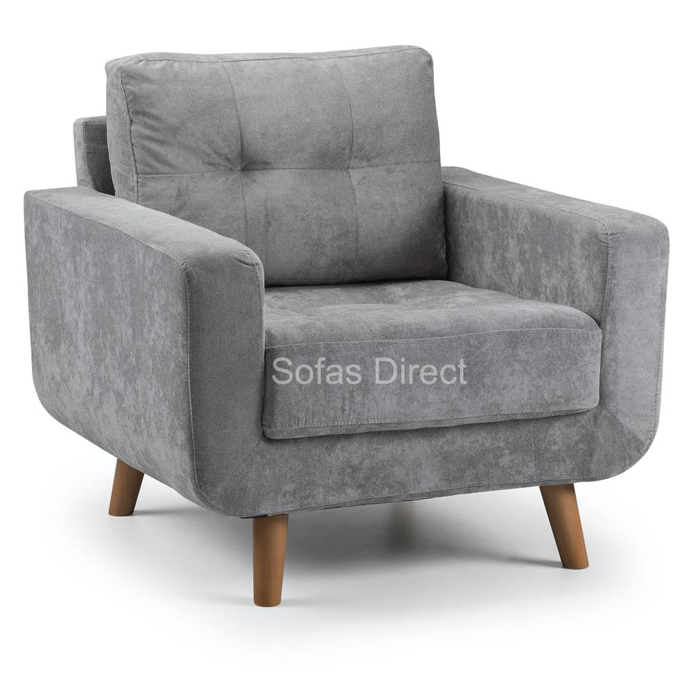 Grey Fabric Arm Chair - SD114
