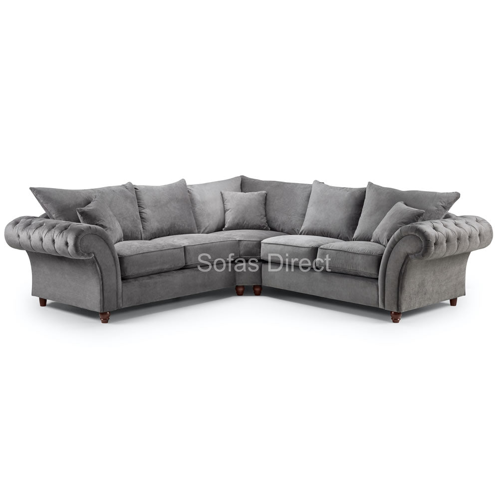 Dark Grey 2C2 Corner Fabric Sofa - SD123