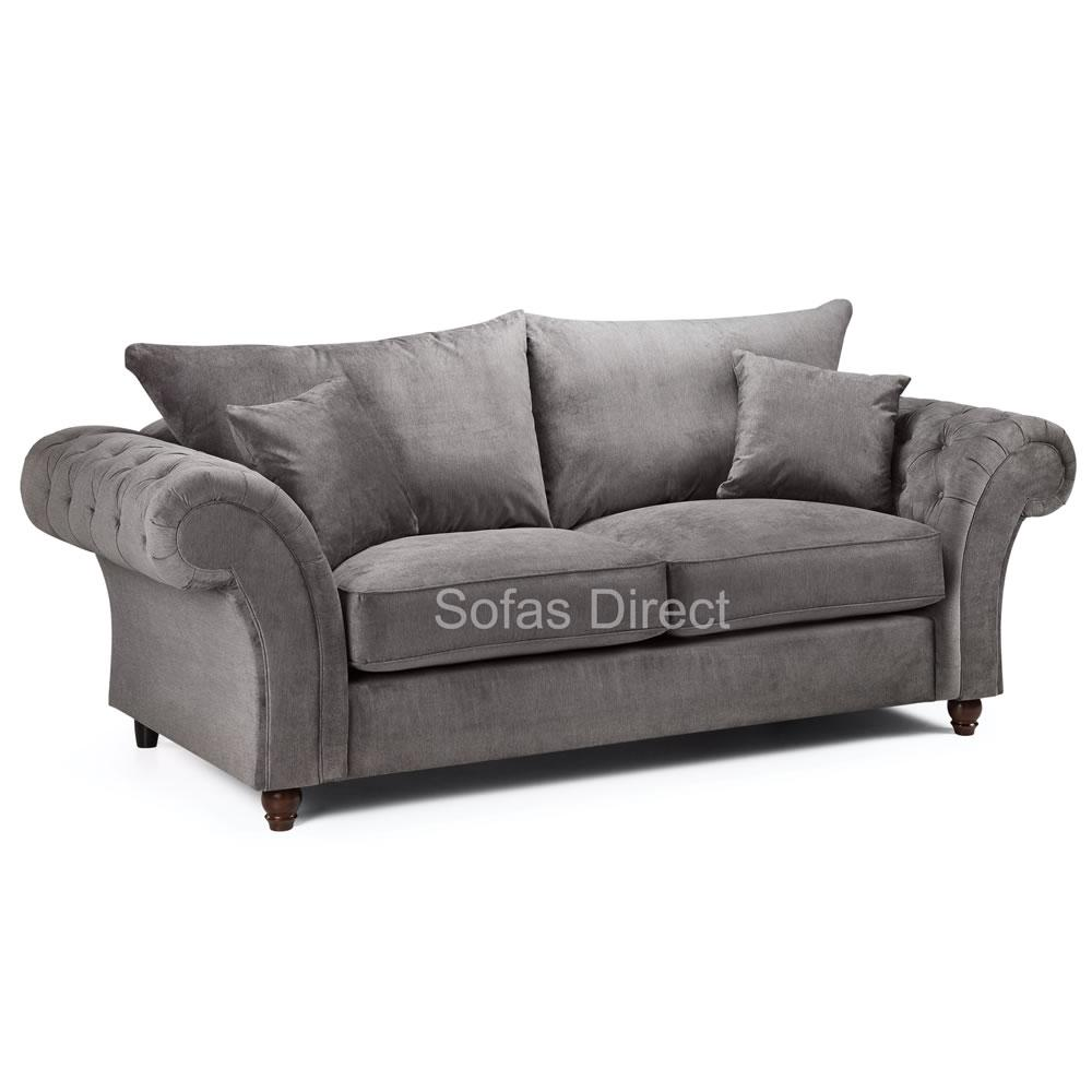 Grey Fabric 3 Seater Sofa - SD123