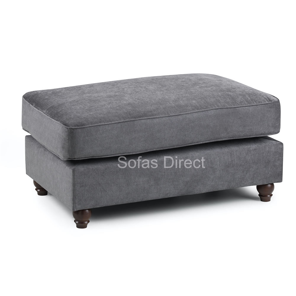 Fabric Foot Stool Dark Grey - SD123