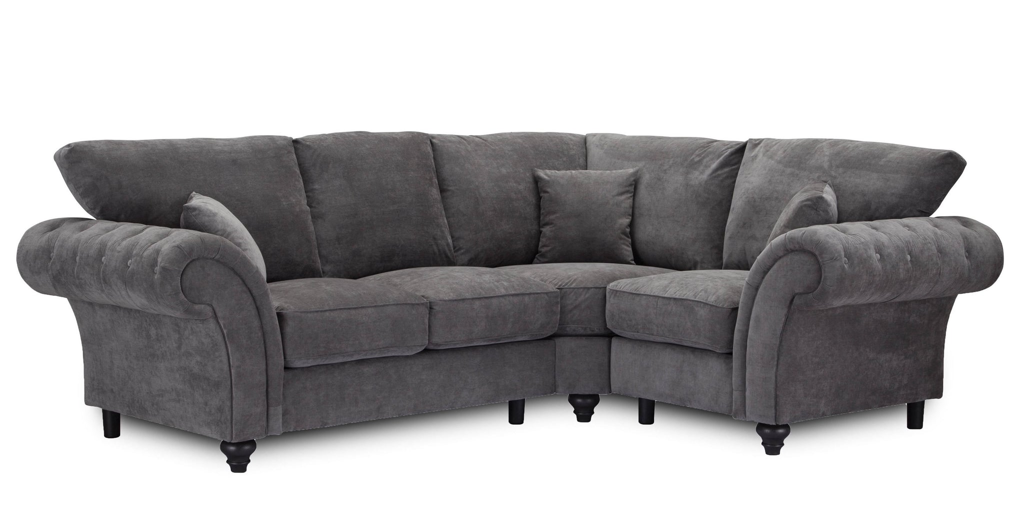 Dark Grey Fabric Corner Sofa (2C1) - SD123