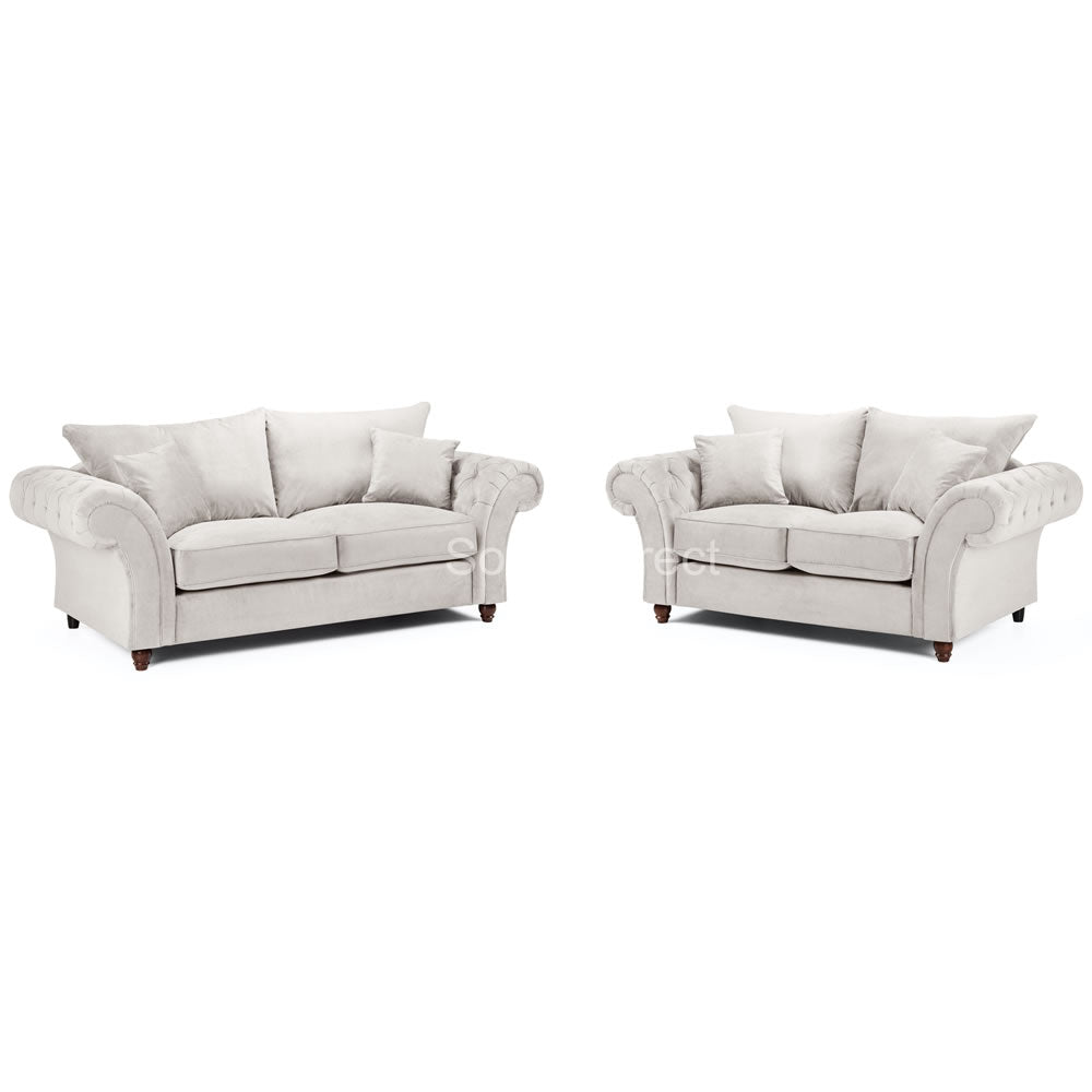 2 Piece Stone Fabric Sofa Set - SD123