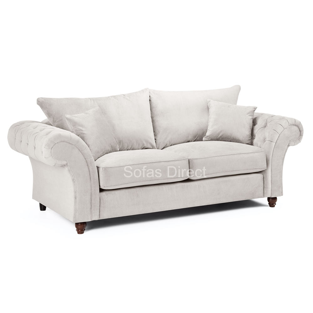Stone Fabric 3 Seater Sofa - SD123