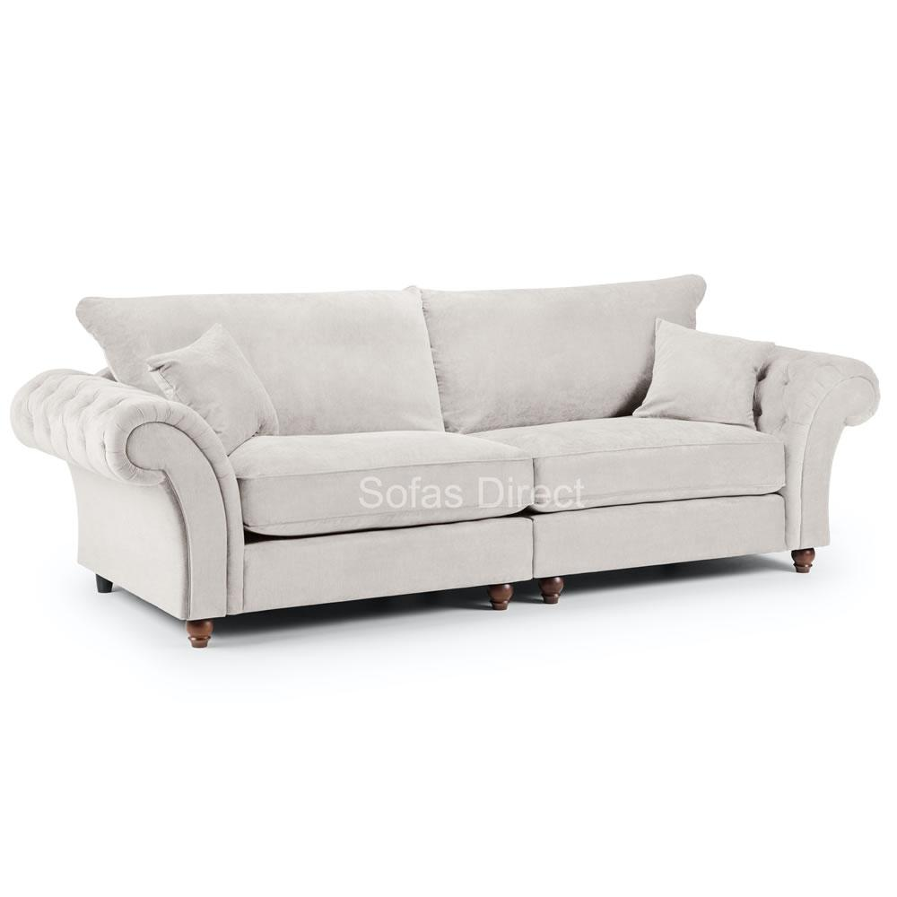 Stone Fabric 4 Seater Sofa - SD123