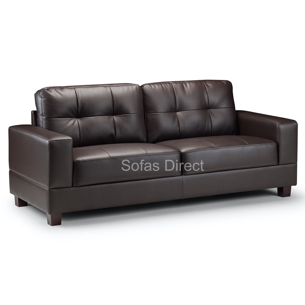 2 & 3 Seat Brown Leather Sofa Set - SD124