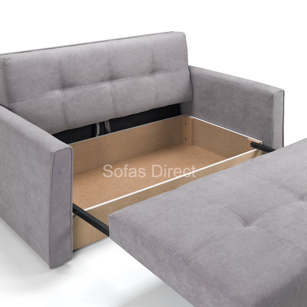 Two Seat Grey Fabric Sofa Bed - SD141