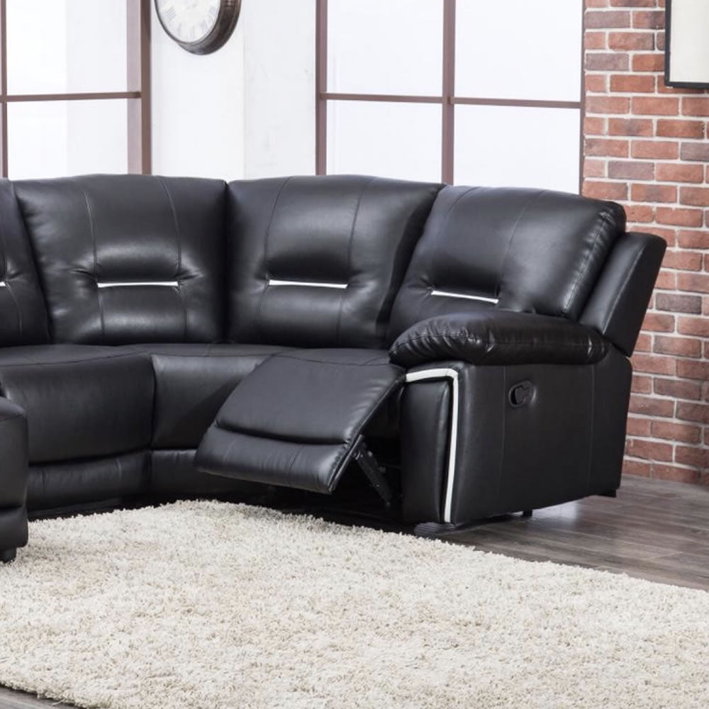 Modern Leather Reclining Corner Sofa - SD201