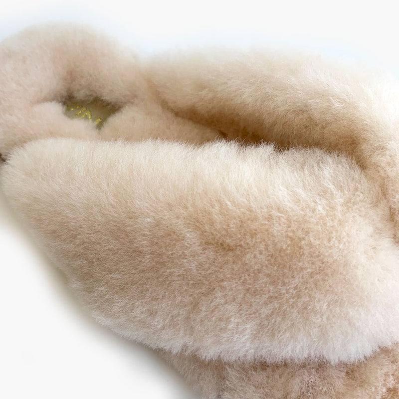Cozy Flip Flop Sheepskin Slippers