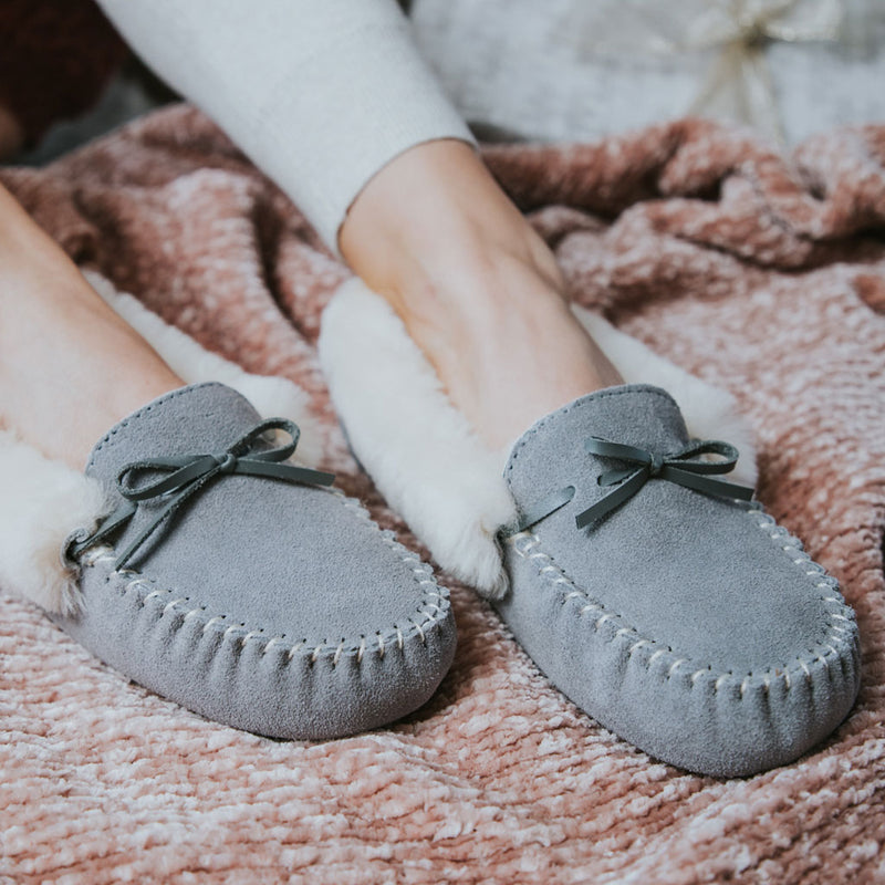 Harlow Moc Sheepskin Slipper