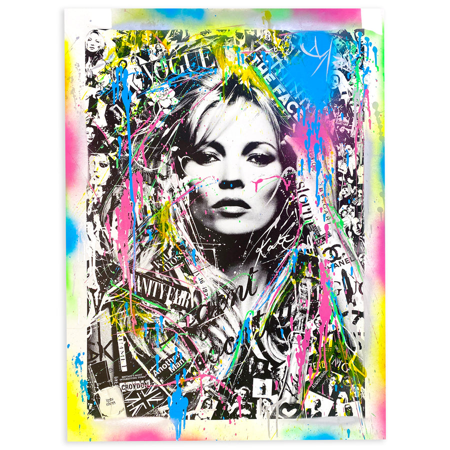 Kate Moss-Colors  (30x40)