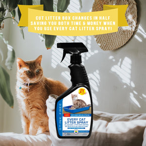 Every Cat Litter Spray - Urine Enzyme Cat Odor Spray Instantly Eliminate Litter Box Odor & Cut Litter Box Changes in Half!