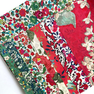 Liberty Nine Patch Cushion kit red