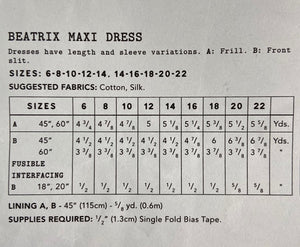 Liberty Fabrics Beatrix Maxi Dress pattern
