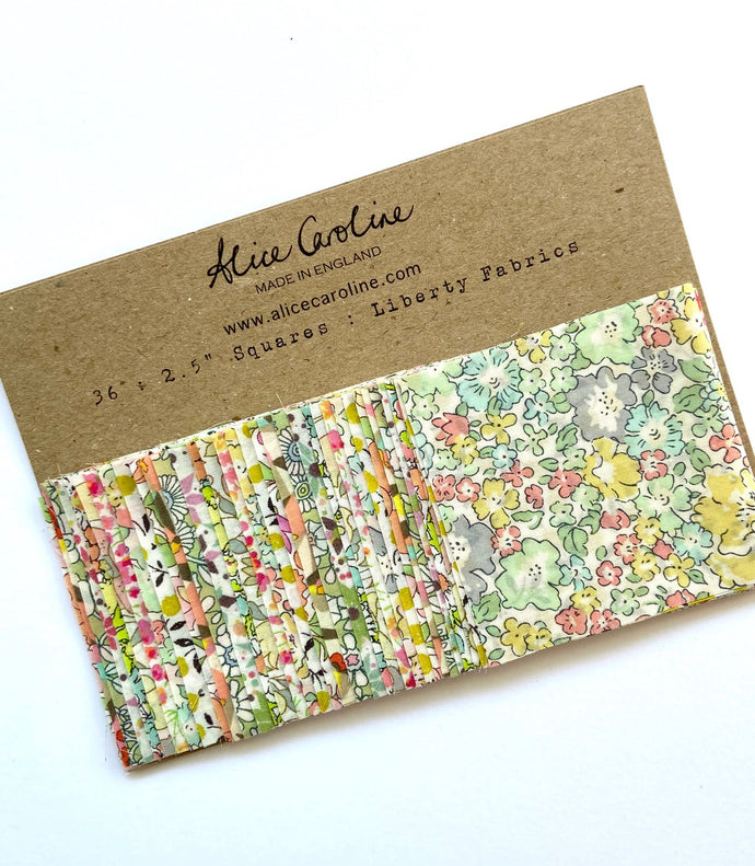 Liberty Tana Lawn Charm Pack Pastel Green and Lemon
