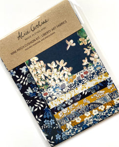 Liberty Nine Patch Cushion kit blue