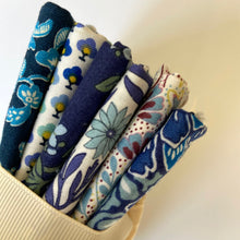 Load image into Gallery viewer, Liberty Quilting Cotton Bundle Blue