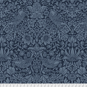 "Strawberry Thief 108"" wide backing fabric-Navy"